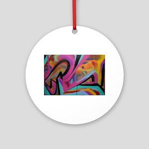 Graffiti colors Round Ornament