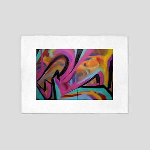 Graffiti colors 5'x7'Area Rug