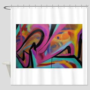 Graffiti colors Shower Curtain