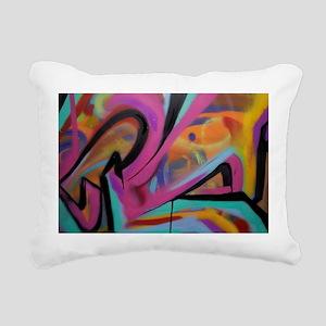 Graffiti colors Rectangular Canvas Pillow