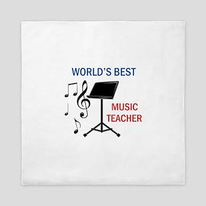 Best Music Teacher Queen Duvet