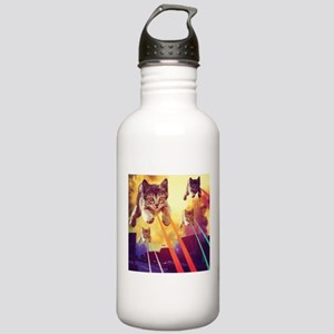 Laser Eyes Space Cats Stainless Water Bottle 1.0L