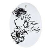 My fair lady Oval Ornaments