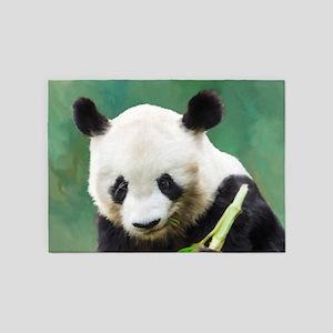 Painting Panda Bear Long Hui 5'x7'Area Rug