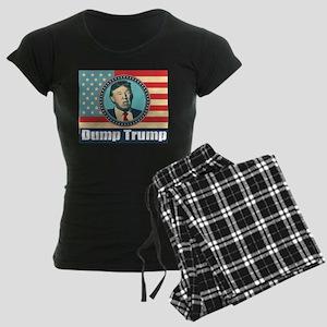 Dump Donald Trump Women's Dark Pajamas