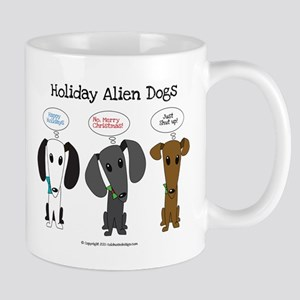 Holidays with the Aliens Mugs