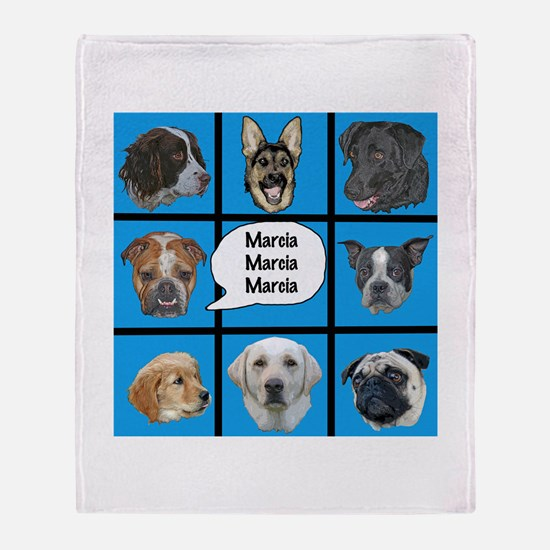 Silly dogs spoof Throw Blanket
