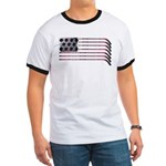 US Hockey Flag Ringer T