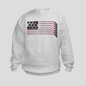 US Hockey Flag Kids Sweatshirt