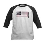 US Hockey Flag Kids Baseball Jersey