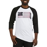 US Hockey Flag Baseball Jersey