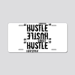 hustle Aluminum License Plate