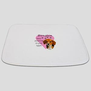 Beagle Pawprints Bathmat