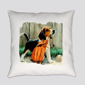 beagle edge1darks Everyday Pillow