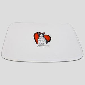 boston red heart and name Bathmat