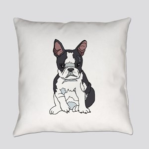boston pup sq Everyday Pillow