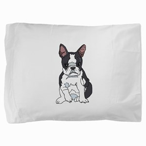 boston pup sq Pillow Sham