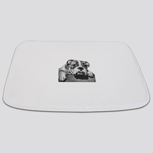 bulldog-3 no background dry brush Bathmat