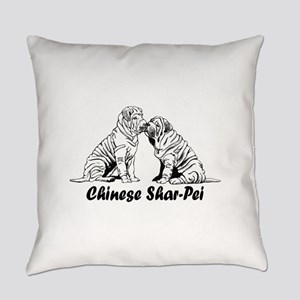chinese shar pei 2 Everyday Pillow