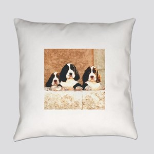 springer pups2 sq Everyday Pillow