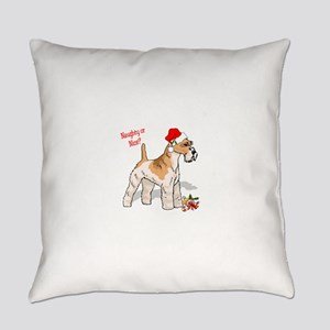 wire fox terrier santa naughty Everyday Pillow