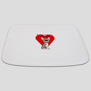 my heart french bulldog crackle Bathmat