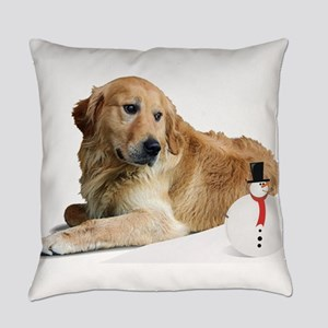 Golden holiday-1 Everyday Pillow