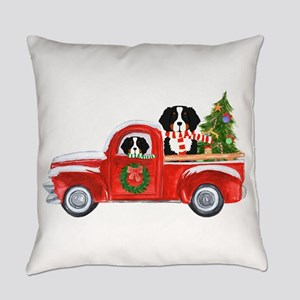 Christmas Berner Red Truck Everyday Pillow