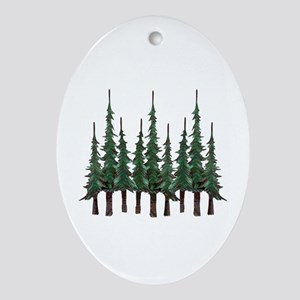 FOREST Oval Ornament