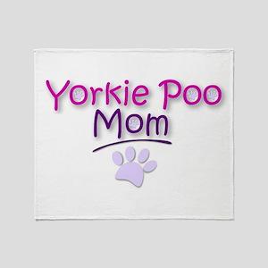 Yorkie Poo Mom Throw Blanket