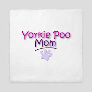 Yorkie Poo Mom Queen Duvet