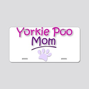 Yorkie Poo Mom Aluminum License Plate