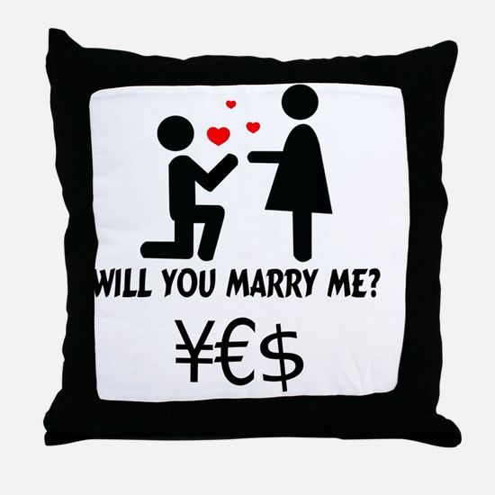 Unique Will you marry me Throw Pillow