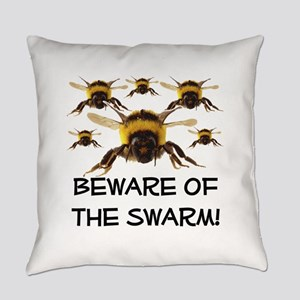 beware of the swarm sandstone Everyday Pillow