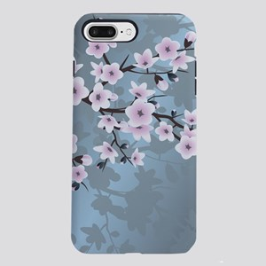 Pink Blue Cherry Blosso iPhone 8/7 Plus Tough Case