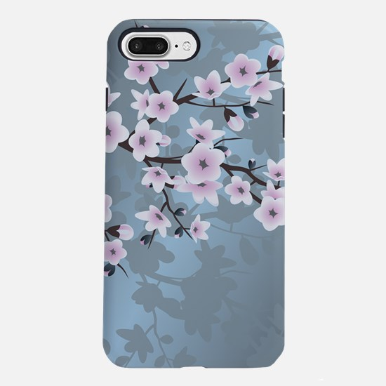 Pink Blue Cherry Blosso iPhone 8/7 Plus Tough Case