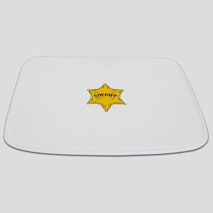 SHERIFF BADGE black Bathmat