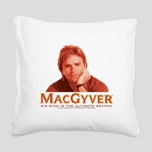 MacGyver: Reddish Square Canvas Pillow