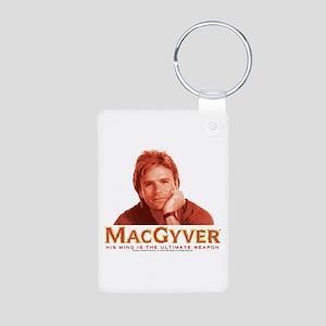 MacGyver: Reddish Aluminum Photo Keychain