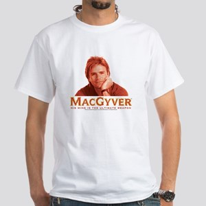 MacGyver: Reddish White T-Shirt