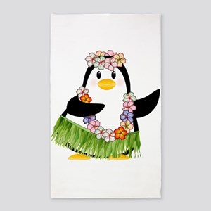 Tropical Penguin Area Rug