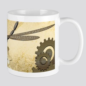 Steampunk, awesome steam dragonfly Mugs