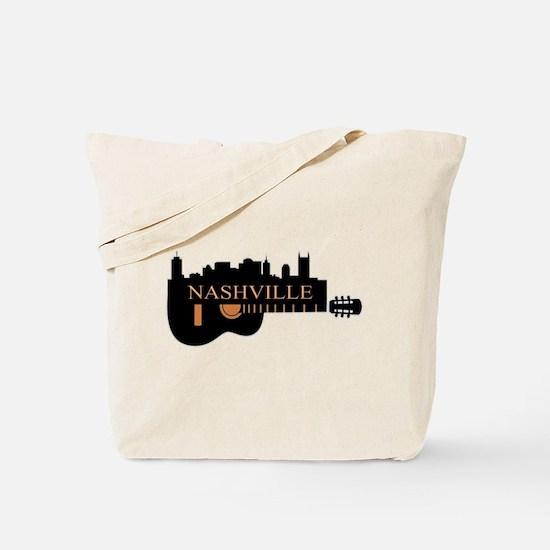 Nashville Guitar Skyline-05 Tote Bag