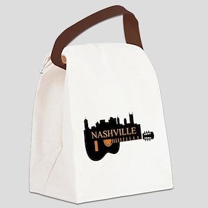 Nashville Guitar Skyline-05 Canvas Lunch Bag