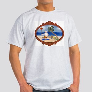 Tropical Santa Christmas/Holiday White T-Shirt