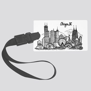 landmarks clean Large Luggage Tag