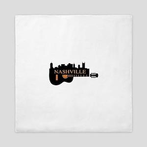 Nashville Guitar Skyline-05 Queen Duvet