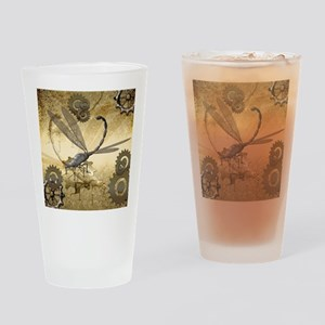 Steampunk, awesome steam dragonfly Drinking Glass