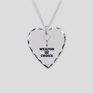 Weapon of Choice Necklace Heart Charm