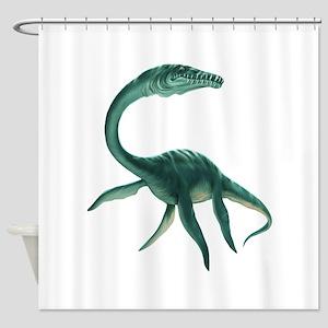 Plesiosaurus Dinosaur Shower Curtain